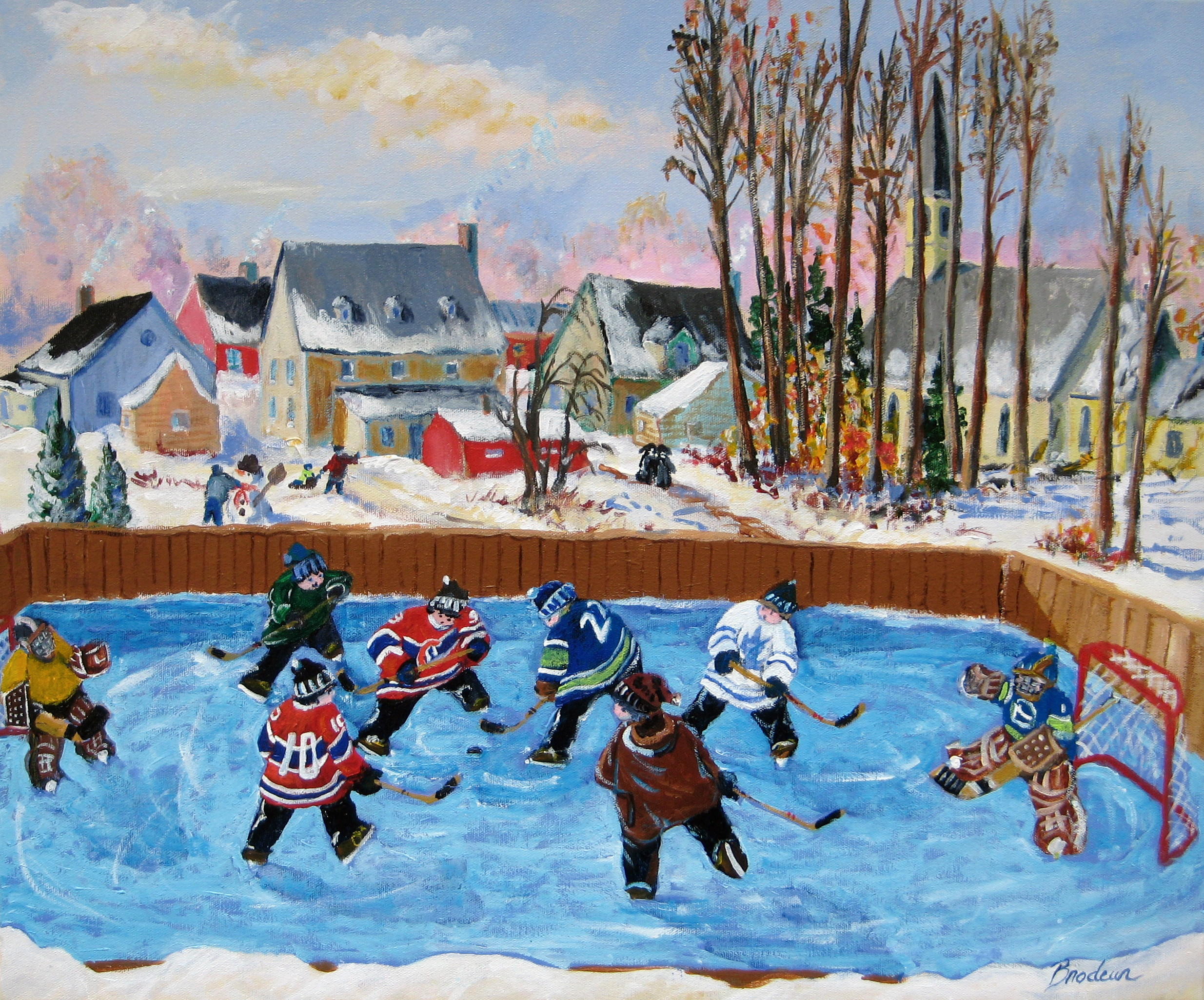 How To Paint Hockey Ice On Canvas
