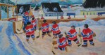 ART ON ICE: King Richard paints hockey memories