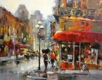 Brent Heighton's Gold Medal painting also received the Peoples Choice Award