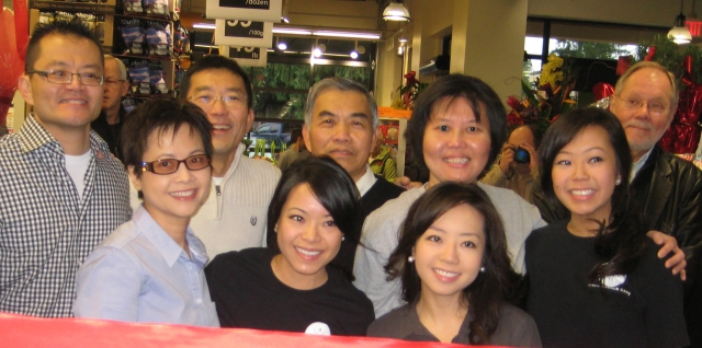 The Lee Family at the Dec 9, 2012 ribbon cutting with MC Kurt Alberts