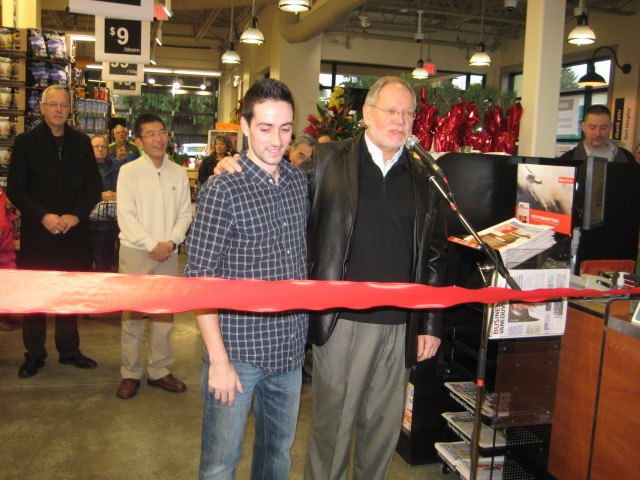 Store Manager, Andrew Abreo recognized by MC Kurt Alberts