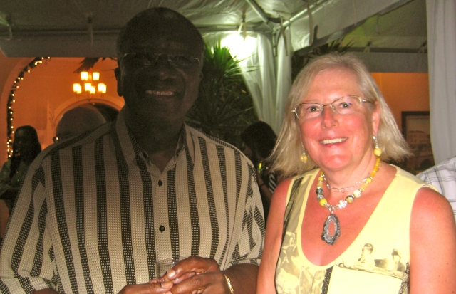 Prime Minister of Barbados, Freundel Stuart with Brenda Alberts