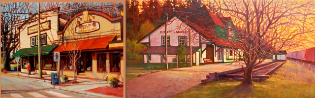 Jack  Turpin is painting the town and now showing at the B.C. Gallery