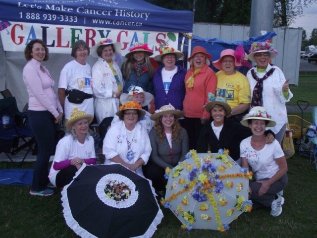 Gallery Galls win the Silver for the 2nd most money raised by a team in this year's Relay for Life
