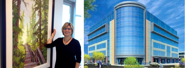 Birthplace of B.C. Gallery artist, Amanda Jones in new Deloitte offices in Langley