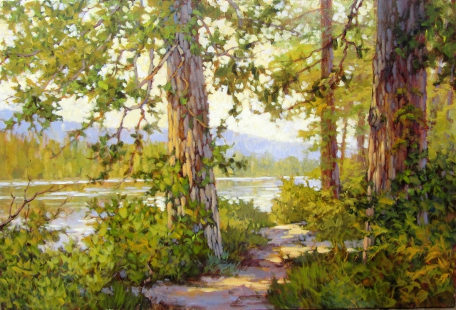AMANDA JONES. Riverside Trail (Ft to Ft). Acrylic 24x36