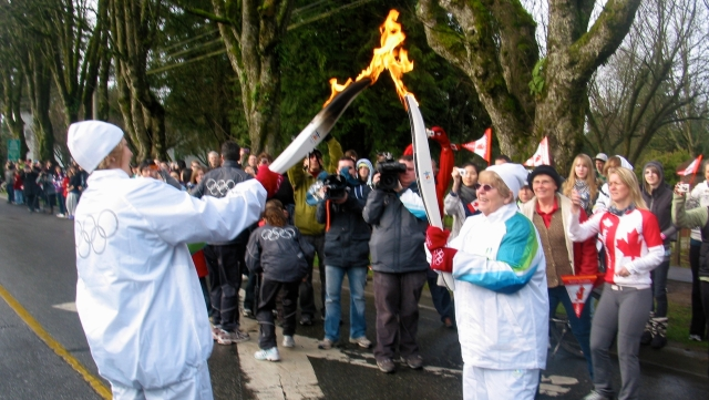 The 2014 BC Games torchlighting ceremony comes to Fort Langley June 5/14