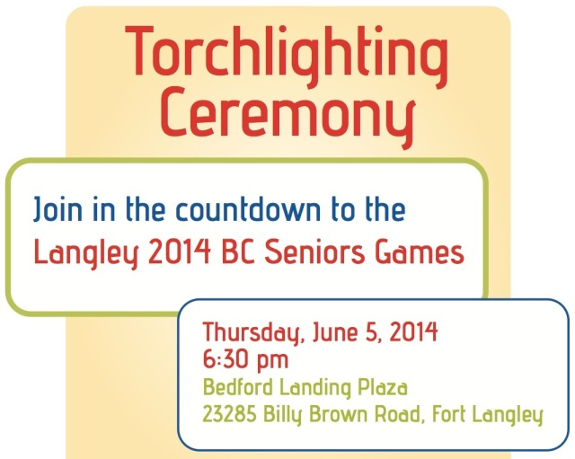 See you in Fort Langley on June 5, 2014 to rekindle the Olympic spirit from 2010.