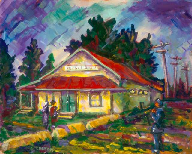 Willoughby Community Hall painted by Al Colton