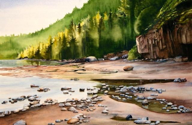 HEIDI LAMBERT: The West Trail. WATERCOLOUR.