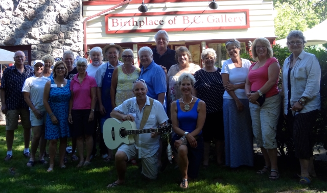 Gallery artists at the Birthplace of B.C. Gallery on Aug 4, 2014