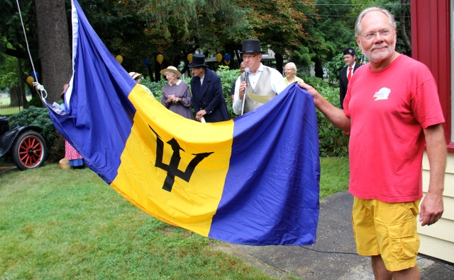 Raising the Barbados Flag at the Birthplace of B.C. Gallery