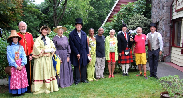 Brenda and Kurt with Mayor Froese and the Barbados Day Entourage