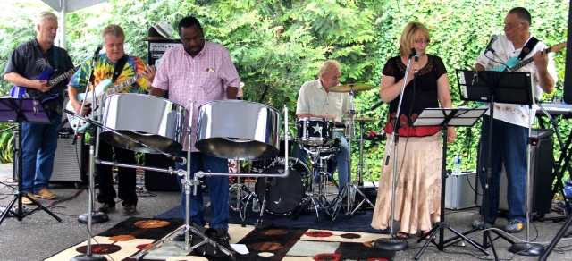 Kenrick Headley performed with the Red Stone Alley Band