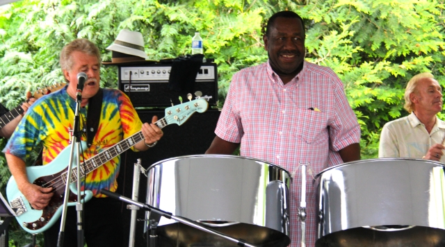 World renown steel panist, Kenrick Headly performed with Red Stone Alley Band