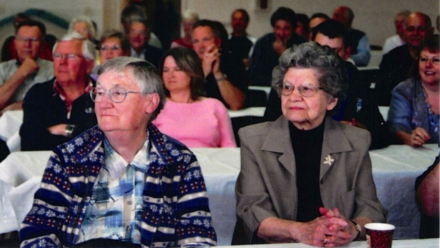 Doris Blair (right) and Alice Johnson (left) in 2005
