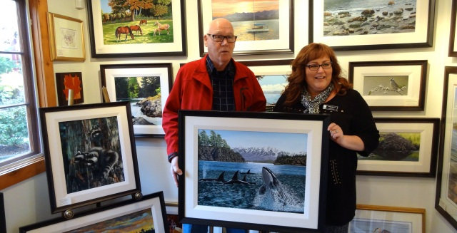 Gallery artist, Lyle Longstaff with Langley Township Councillor Angie Quaale
