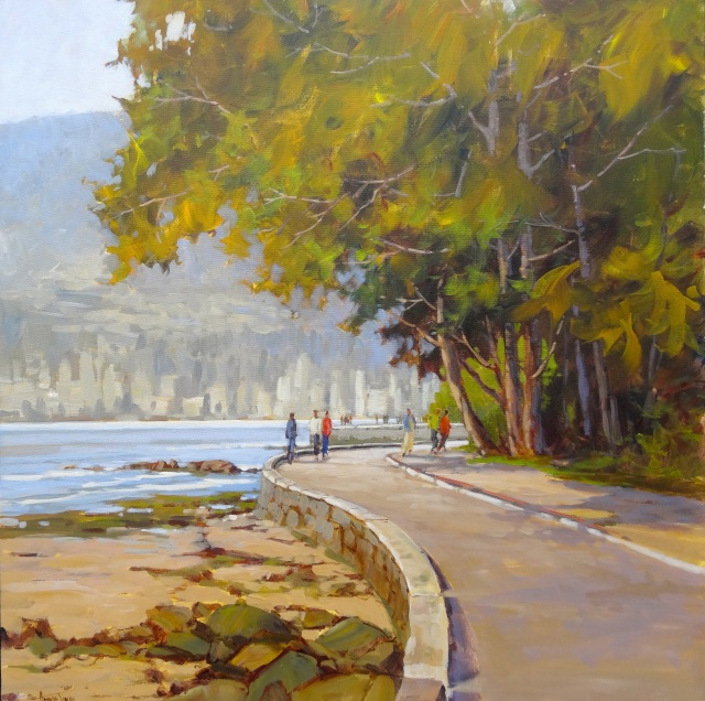 The most famous feature in Vancouver inspired the newest painting by Amanda Jones.
