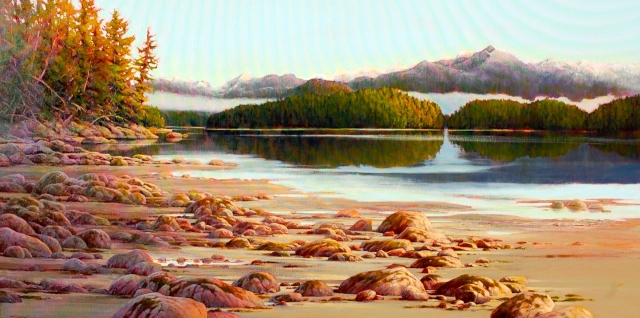 Quiet Passage. Acrylic  24x48 by Jack Turpin