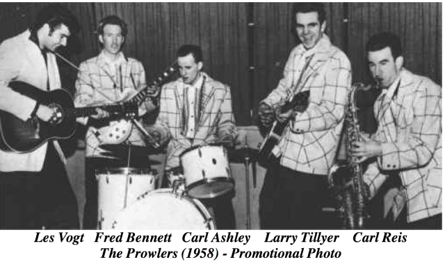 Larry Tillyer (2nd from right) in his music days with the Prowlers