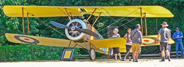 Dan FERGUSON / Langley Times A replica of a Sopwith Camel fighter plane was put on display outdoors on Canada Day by the museum of flight. It is planning to build a replica of the Sopwith pup, the fighter that preceded the Camel.