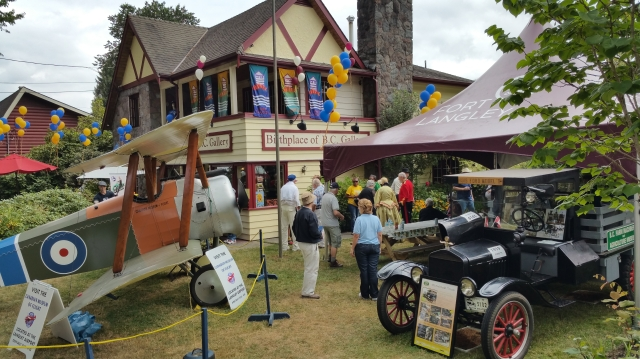 The Farm Museum and Flight Museum display at Barbados Day in Fort Langley