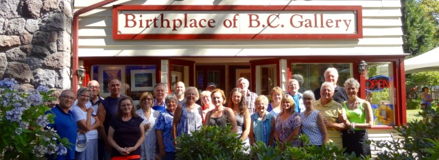BC Day: Gallery artists demonstrated at the Birthplace of B.C. Gallery