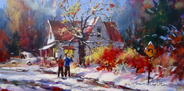 New original paintings by Brent Heighton and gallery artists