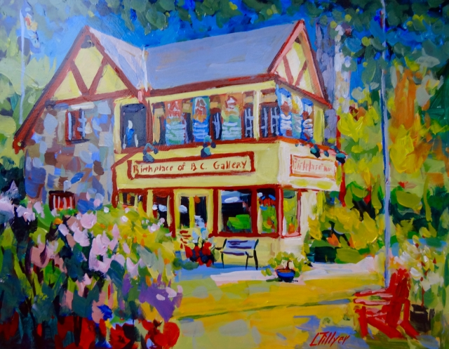 Painting of the Birthplace of B.C. Gallery by Larry Tillyer