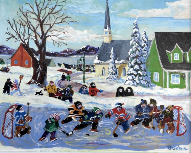 A show of new paintings by King Richard Brodeur, Canucks legendary goalie.