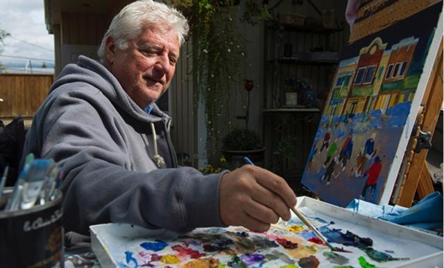 King Richard Brodeur creating his hockey memories. Photo Vancouver Sun