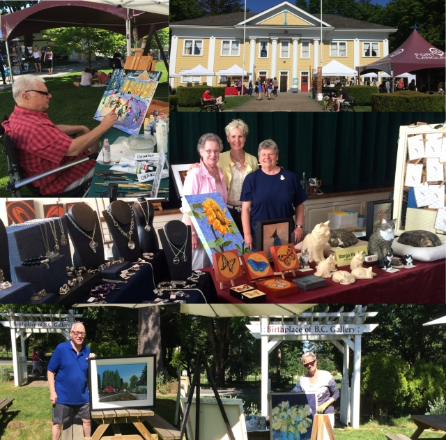 Artists at Bloom Market at the Fort Langley Community Hall and the Birthplace of B.C. Gallery