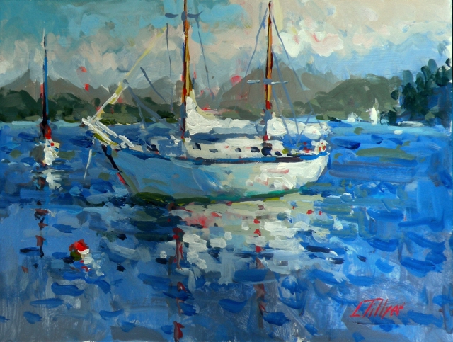 First Place: Gibson Harbour 12x16 Acrylic by Larry Tillyer